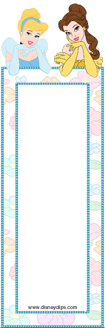Walt disney Crafts - Princess cinderella and Princess Belle Bookmark