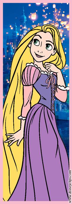 Walt Disney Crafts - Princess Rapunzel Bookmark