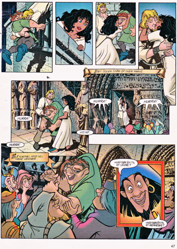 Walt Disney Characters wallpaper containing anime entitled Walt Disney Movie Comics - The Hunchback of Notre Dame (Danish Version)