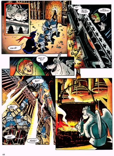华特·迪士尼角色 壁纸 containing 日本动漫 called Walt 迪士尼 Movie Comics - The Hunchback of Notre Dame (Danish Version)