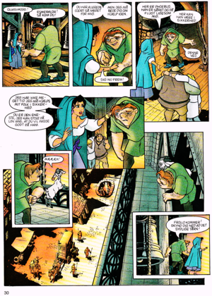 Walt 디즈니 Movie Comics - The Hunchback of Notre Dame (Danish Version)
