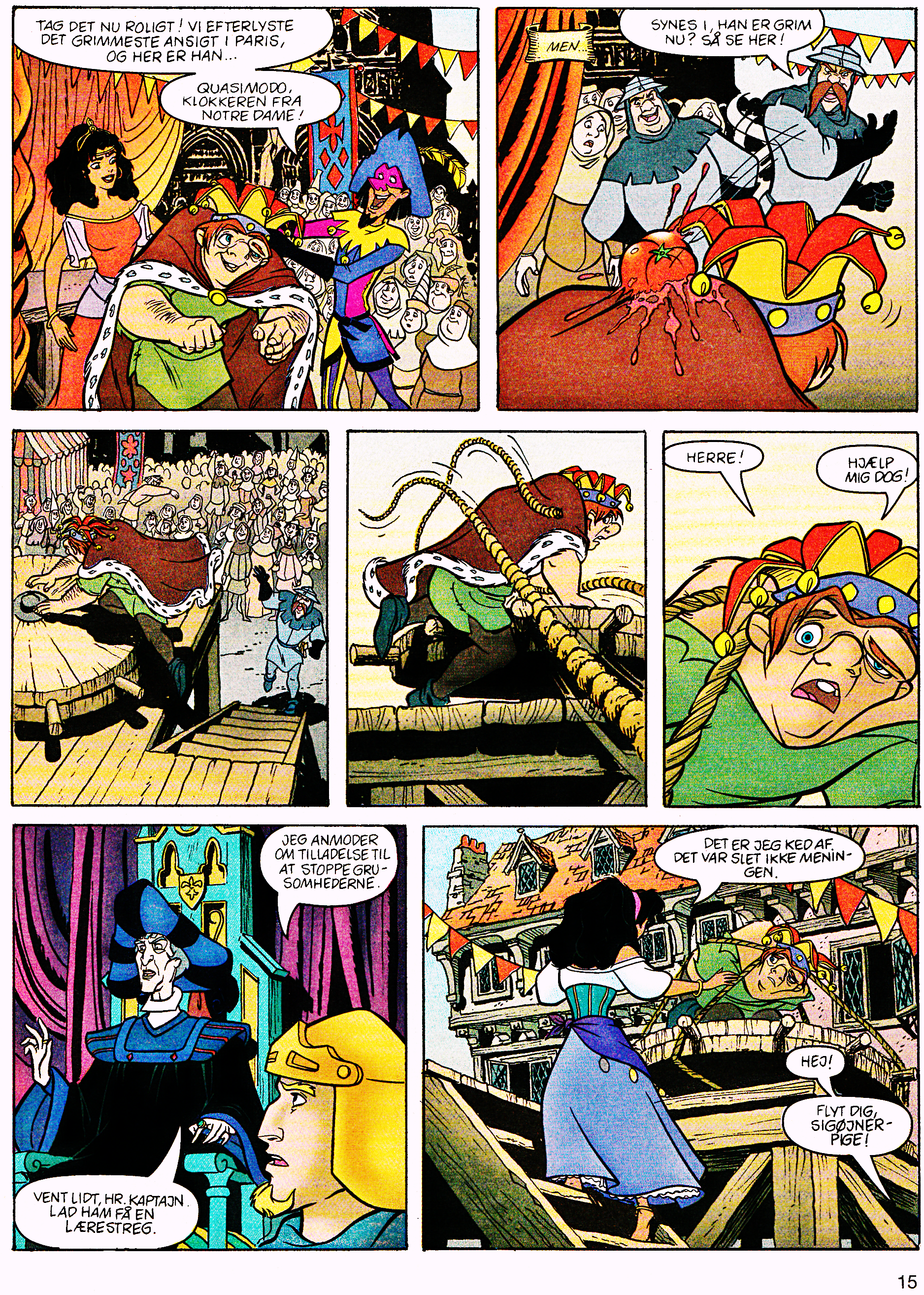 Walt ディズニー Movie Comics - The Hunchback of Notre Dame (Danish Version)