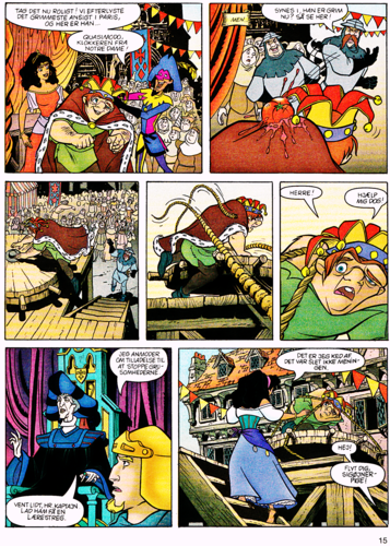 Walt Disney Characters achtergrond with anime called Walt Disney Movie Comics - The Hunchback of Notre Dame (Danish Version)