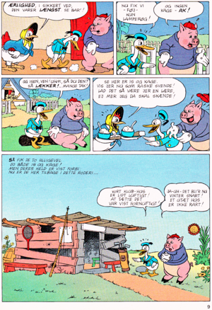 Walt disney Movie Comics - The Wise Little Hen (Danish Version)
