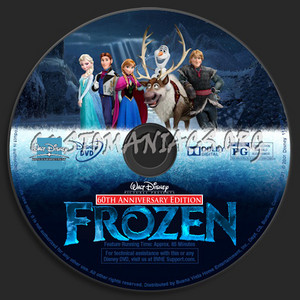 Walt Disney Pictures Presents 60th Anniversary Edition Frozen DVD CD