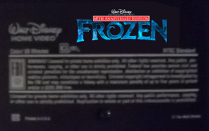 Walt Disney Pictures Presents 60th Anniversary Edition Frozen VHS Black