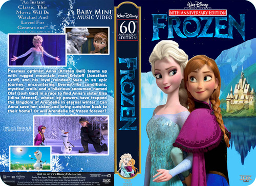ディズニー 壁紙 entitled Walt ディズニー Pictures Presents 60th Anniversary Edition アナと雪の女王 VHS