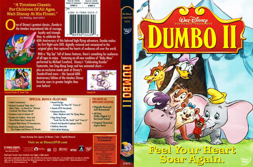 Disney hình nền with anime entitled Walt Disney Pictures Presents Dumbo 2 DVD