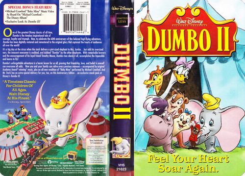 Disney wallpaper with Anime entitled Walt Disney Pictures Presents Dumbo 2 VHS