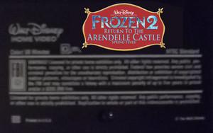 Walt ডিজনি Pictures Presents ফ্রোজেন 2 Return To The Arendelle দুর্গ Spring Fever (2001) VHS Black