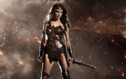 Wonder Woman karatasi la kupamba ukuta with a hip boot called Wonder Woman