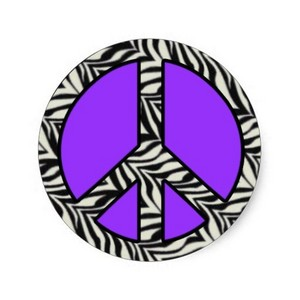 zebra stripe peace sign