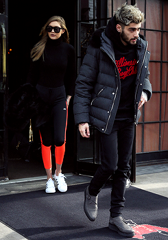 Zigi leaving the Bowery Hotel in NYC