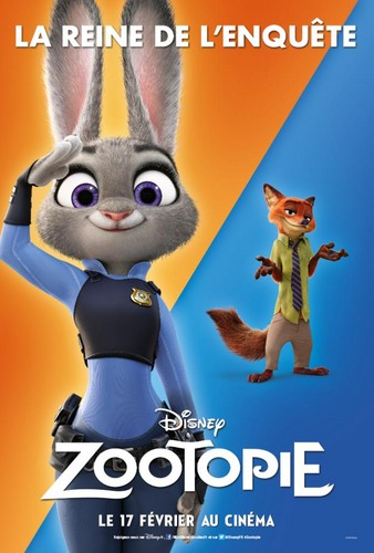 Disney's Zootopia Hintergrund possibly with Anime entitled Zootopia French Posters