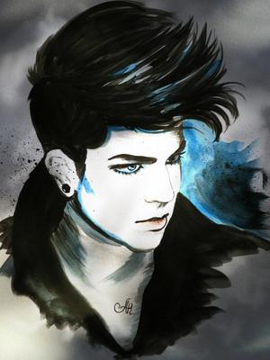 acrylic art adam lambert by annakoutsidou d5kqwbg