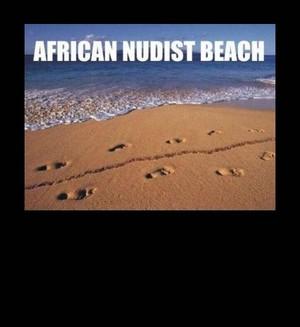 african nudist de praia, praia