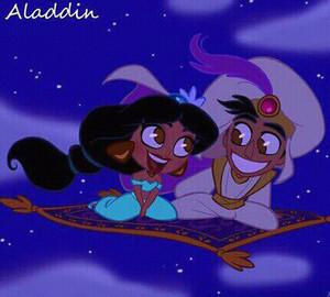 Walt Disney fan Art - Princess Jasmine, Prince Aladin & Carpet