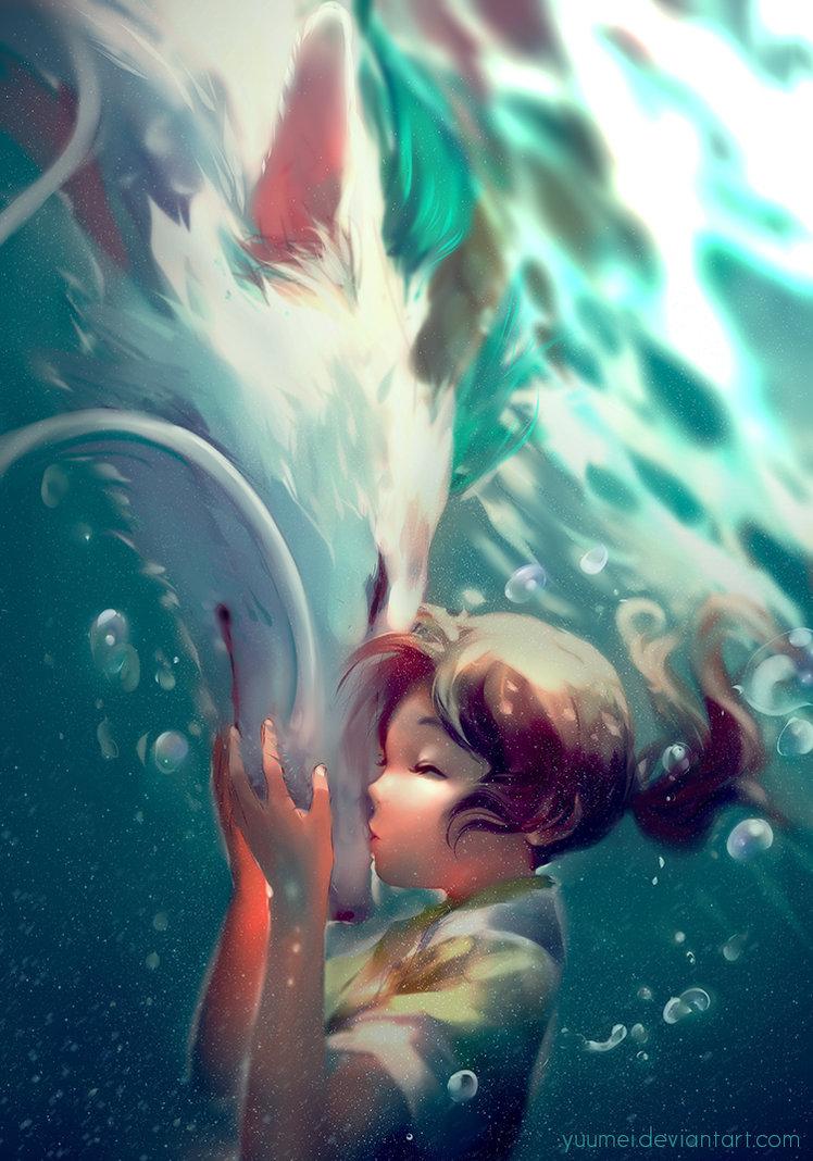 dragon haku and chihiro.