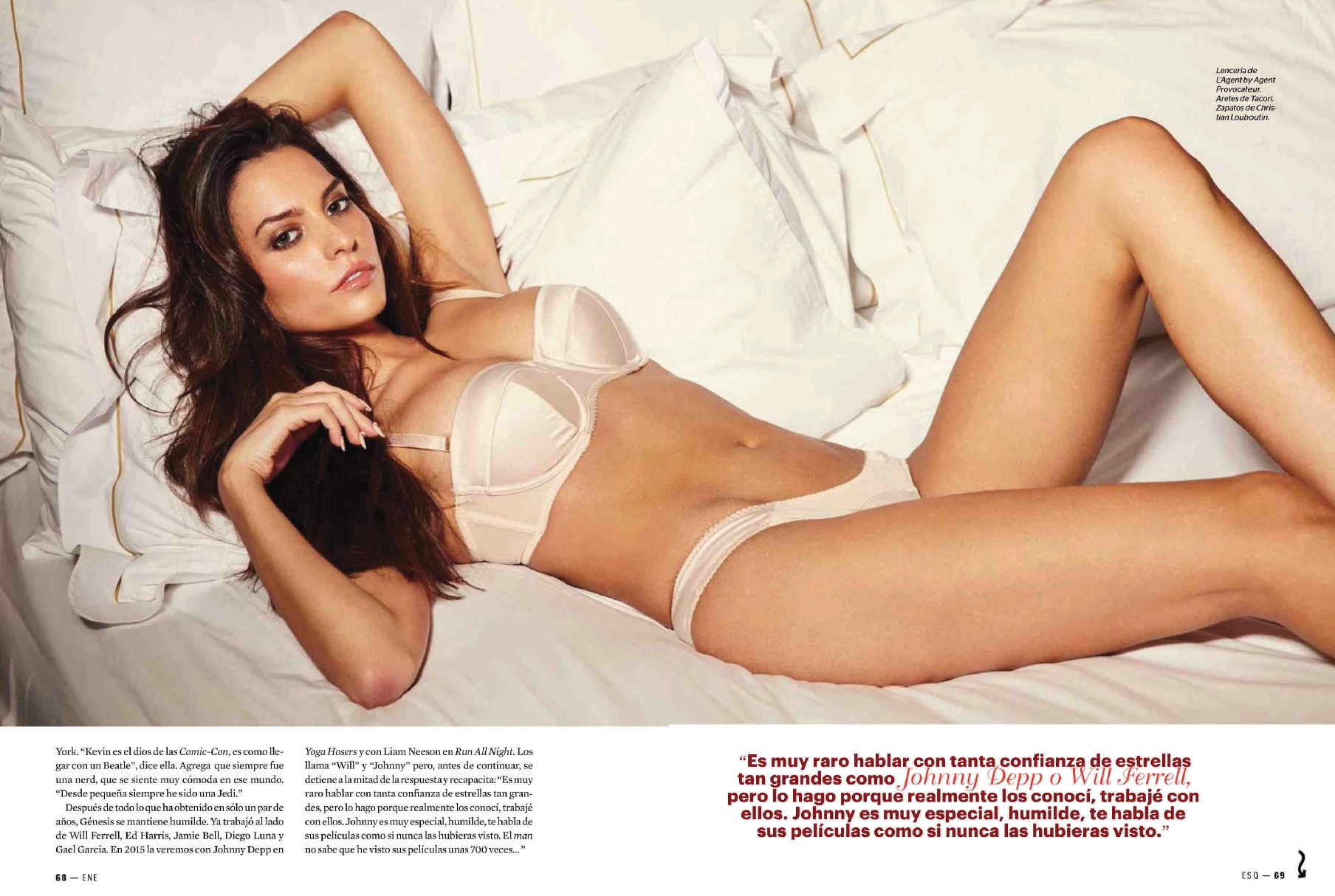 genesis rodriguez Unterwäsche esquire mexico january 2015 4