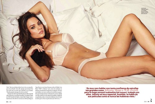 Genesis Rodriguez wallpaper containing attractiveness and skin titled genesis rodriguez lingerie esquire mexico january 2015 4