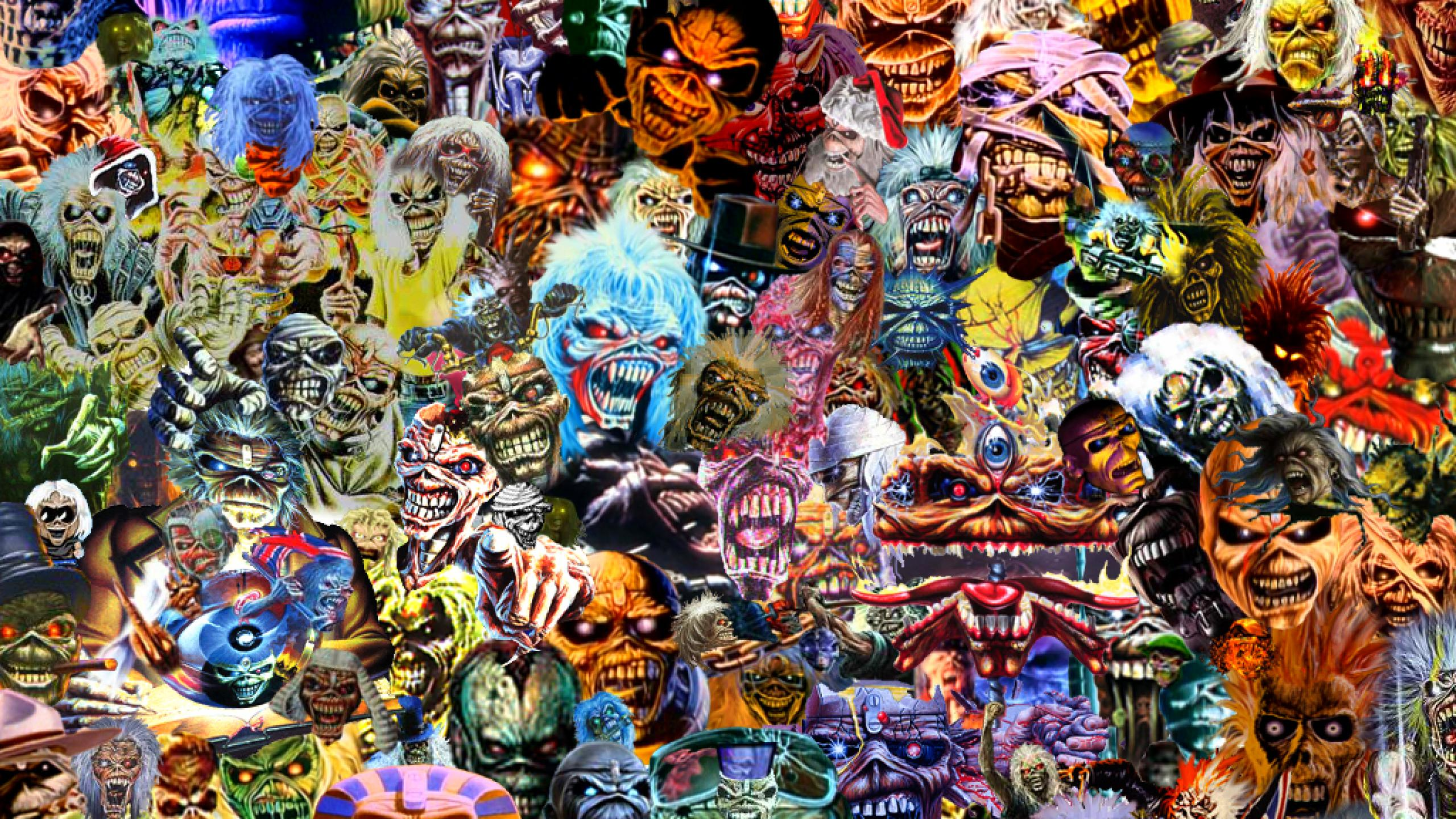 iron maiden eddie cool faces entertainment 2560x1440 hd hình nền 469033