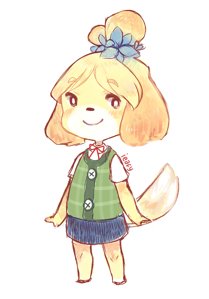 isabelle by ieafy d729qp9 - Isabelle (Animal Crossing) Fan ...