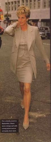 Puteri Diana kertas dinding containing a jalan and a business suit entitled princess of wales