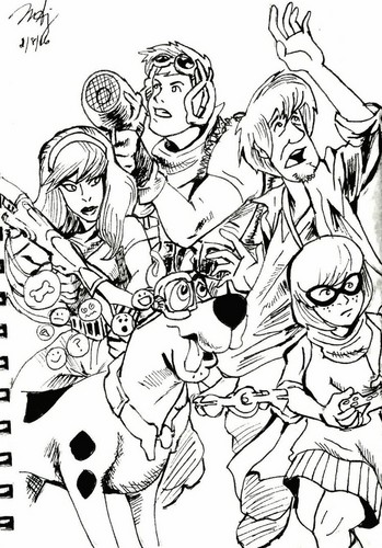 Scooby-Doo achtergrond containing anime entitled revamped scooby doo apocalypse cover