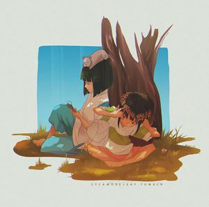 sen and haku.