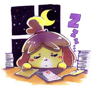 sleeping isabelle por lazyturtle d6l92q9