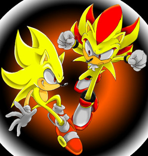super sonic and super shadow sonic the hedgehog 5766838