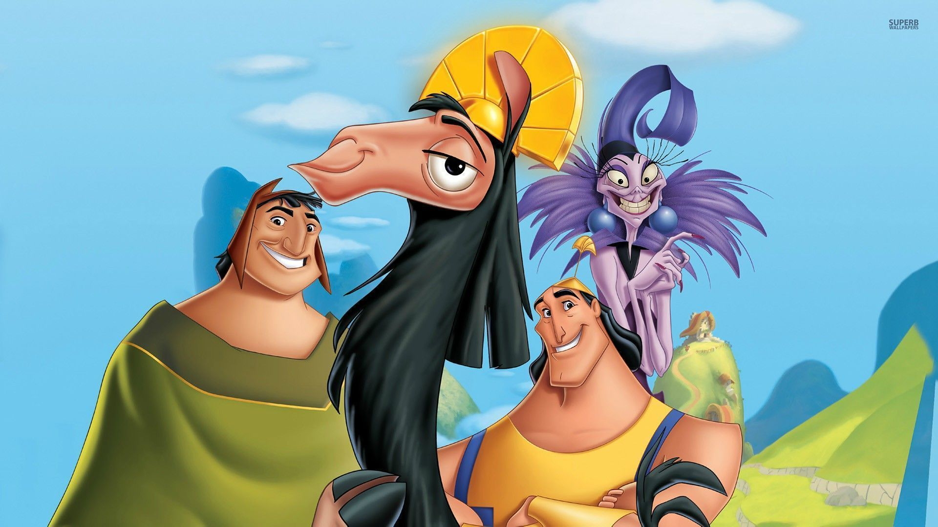 Walt Disney fonds d'écran - The Emperor's New Groove