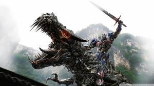transformers 4 optimus prime vs dinobot wallpaper 960x540