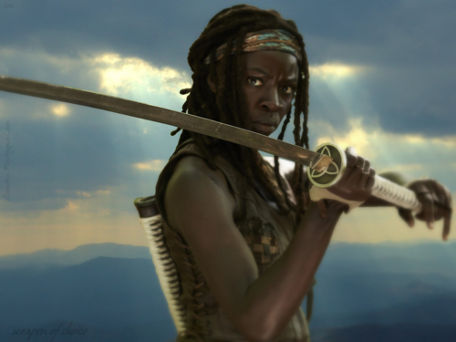 The Walking Dead karatasi la kupamba ukuta entitled weapon of choice (1600x1200)