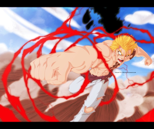 *Laxus Defeat Wahl With Red Lightning*