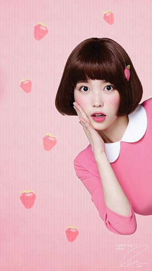 아이유 Mobile Wallpaper 1080x1920 for Isul Tok Tok (peach drink)