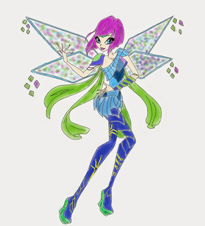 Winx Club tecna Drawing Bloomix 2D