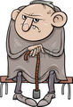 31051766 cartoon illustration of grumpy old man senior - zombies photo
