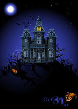 7615956 Хэллоуин haunted house