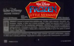 A Walt 迪士尼 Masterpiece 《冰雪奇缘》 And The Little Mermaid (1999) On VHS