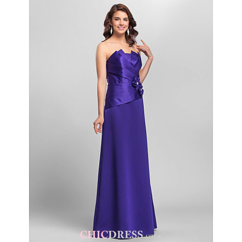 chicclothing images A-line Spaghetti Straps Floor-length Satin ...