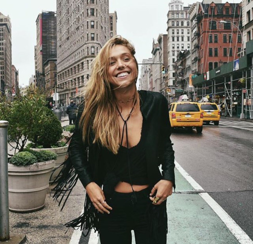 Alexis Ren wallpaper containing a street, a business district, and a business suit entitled Alexis Ren