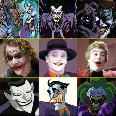 The Joker kertas dinding possibly containing Anime called All the various Jokers