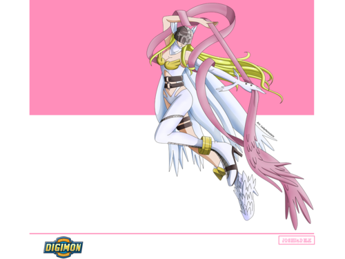 Digimon wolpeyper containing anime entitled Angewomon wolpeyper