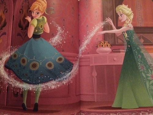 Frozen Fever Hintergrund titled Anna and Elsa