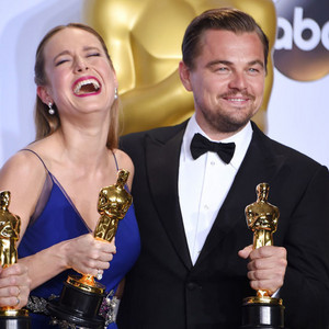 Brie Larson and Leo