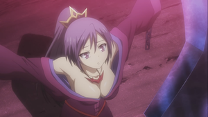 Buxom Maiden with Purple Hair from the upcoming Seisen Cerberus anime
