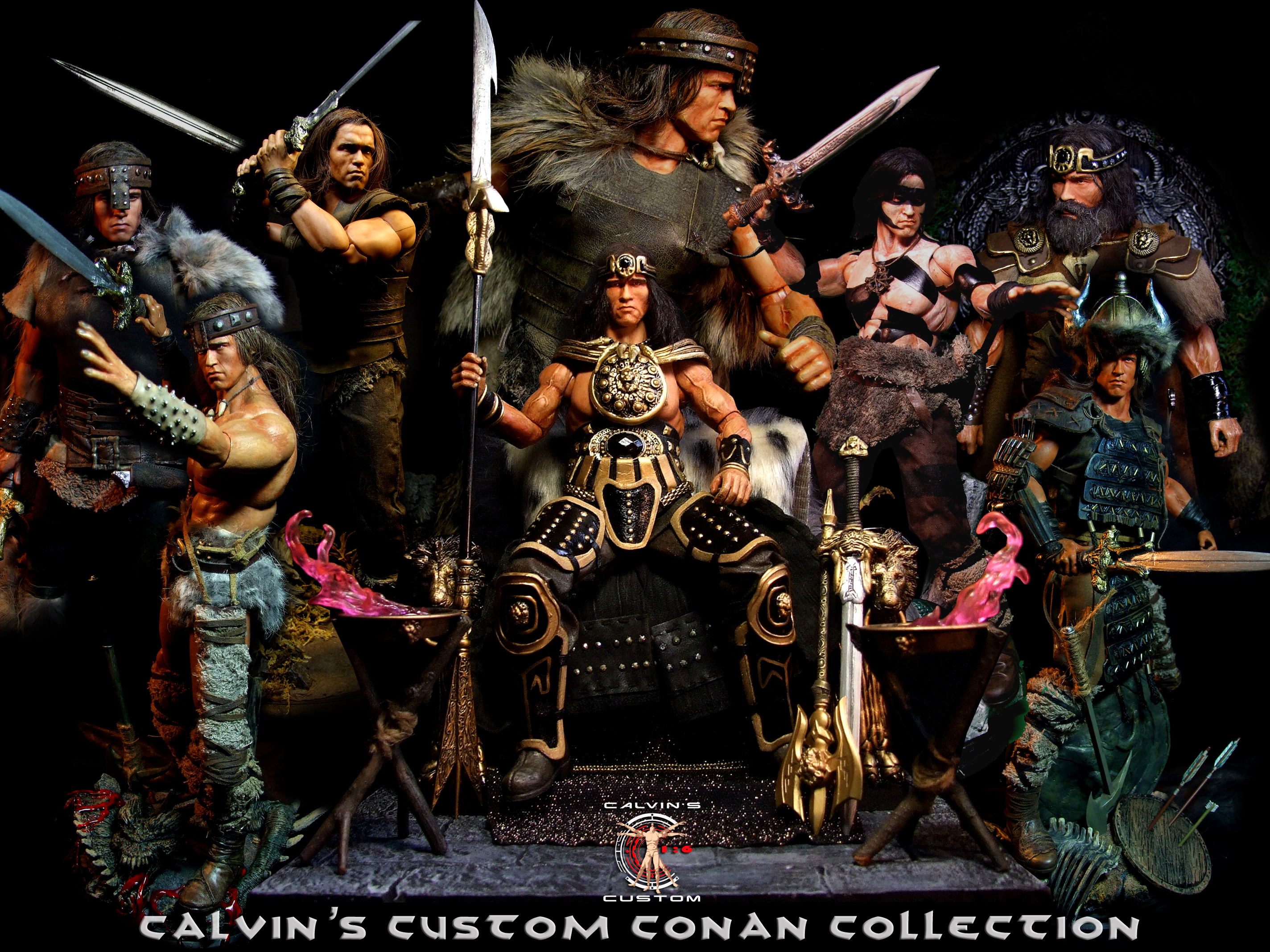 Calvin's Custom 1/6 one sixth scale Arnold Schwarzenegger as Conan the Barbarian and the destroyer a
