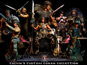 Calvin's Custom 1/6 one sixth scale Arnold Schwarzenegger as Conan the Barbarian and the destroyer a