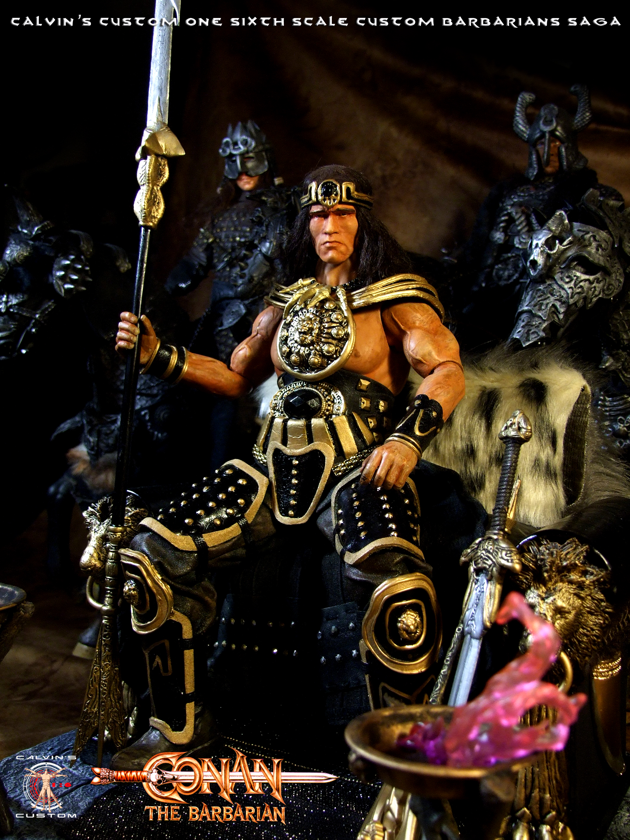 Calvin's Custom 1/6 one sixth scale Arnold Schwarzenegger as King Conan, based on Conan the Barbaria